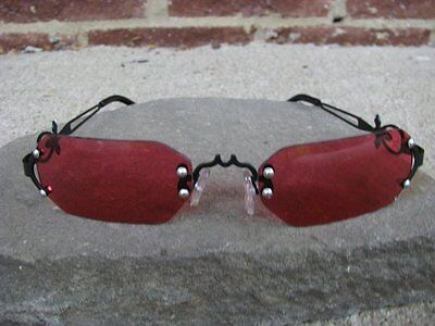 Gothic Rose Vampire Glasses Dracula Costume Steampunk New