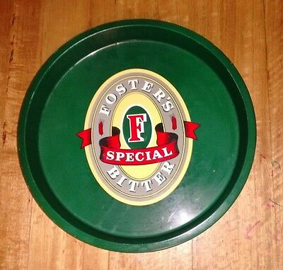 Fosters Special Bitter Round Metal Drink Serving Tray for Home Bar or Collector