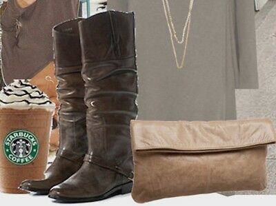 NEW 2016 GOLDEN GOOSE BOOTS  TALL CHARLYE BROWN 39 (8-81/2) Distress IT