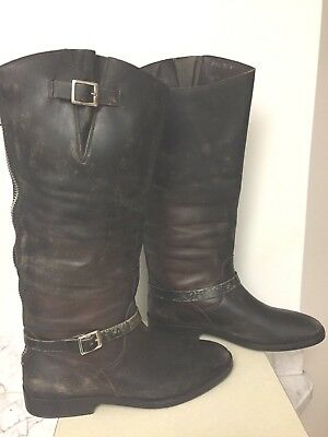NEW GOLDEN GOOSE BOOTS TALL ROSEBOWL 40 81/2/ 9 Amazing Distress IT Ret1200