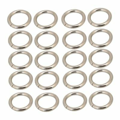 Silvery Metal Heavy O Ring O Shaped Belt Buckle for Purses Bags Backpack St J4D5