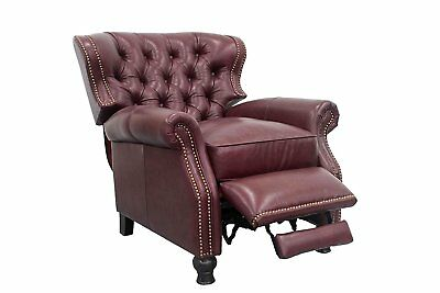 NEW Barcalounger Presidential II Genuine Leather Recliner Chair - Shoreham Wine