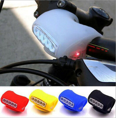 HOT Cycling Bike Bicycle 7 LED Black Silicone Warning Rear Front Light Lamp