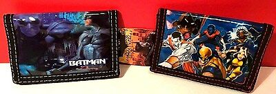 Batman and Marvel X -Man Blue Children's Wallet Set of Two