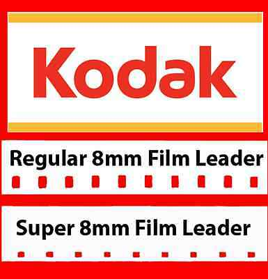 Kodak's 'Classic' 8mm and Super 8mm White Movie Film Leader w/FREE Adapter!