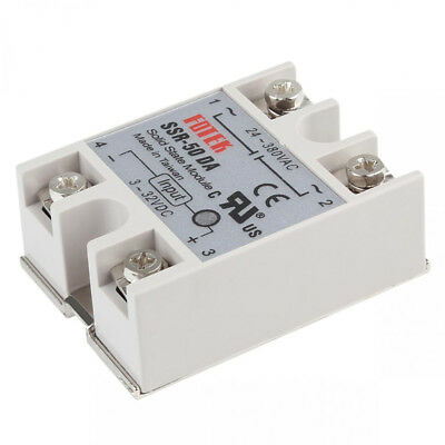 1 Pc Solid State Relay SSR-50DA 50A Adapter With Cover 3~32V DC 62* 44* 23 mm