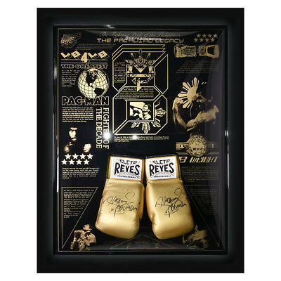 Manny Pacquiao Vermächtnis Limitierte Ausgabe Cleto Reyes Boxhandschuh Display
