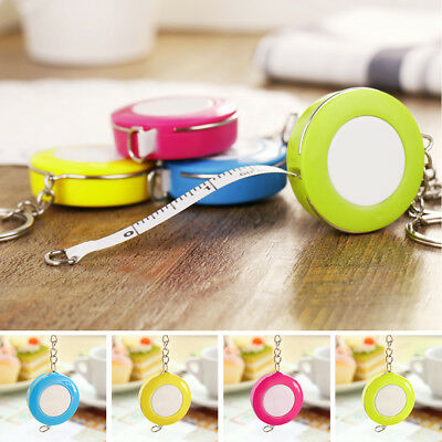 New Portable Retractable Ruler Centimeter/Inch Plastic Key Chain Tape Measure
