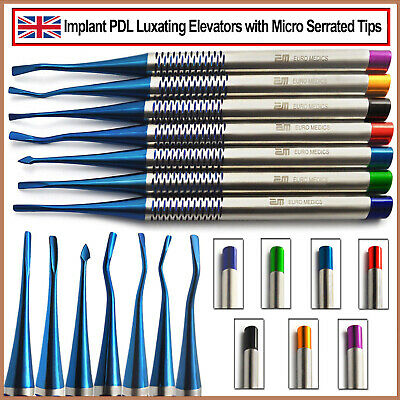 Set Of 7 Dental PDL Luxating Elevators Tooth Loosening Implant Oral Surgery New