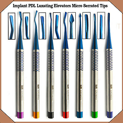Dental PDL Luxating Elevators Surgical Veterinary Tools With Micro Serrated Tips