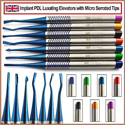 Dental PDL Luxating Tooth Loosening Elevators Micro Serrated Root Extracting Kit
