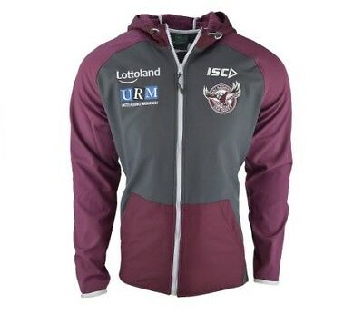 Manly Sea Eagles NRL 2018 Players ISC Tech Pro Hoody Sizes S-5XL!