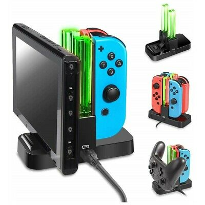 Nintendo Switch Joy Con JoyCon Pro Controller Charge Charging Charger Stand
