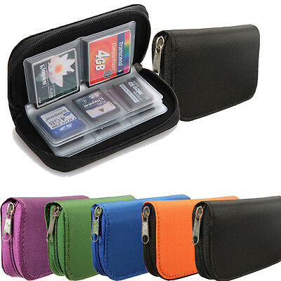 Memory Card Carrying Case Holder Pouch Storage Bag Micro SD/CF/SDHC/MS/DS 22 pcs