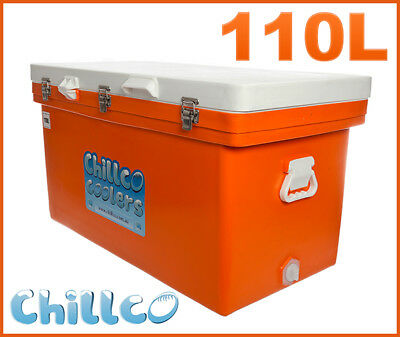 110L Chillco Ice Box Cooler Chilly Bin Superior Ice Retention - Rrp $480
