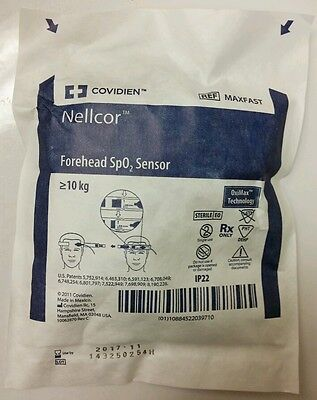 Covidien Nellcor MAXFAST Forehead SpO2 Sensor with OxiMax Technology