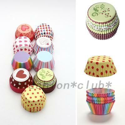 DIY 100pc Paper Cake Cup Liner Cupcake Cases Baking Muffin Dessert Party Wedding