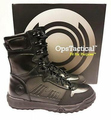 Ops Tactical Ct Black Leather /coolmax Assault Boots Antistatic Warm Comfortable