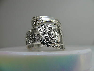 Sterling Silver spoon RING s 9 1/4 GOOD LUCK # 5581 Jewelry
