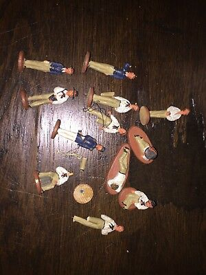 VINTAGE DOLLS HOUSE LARGE LOT Military/SIMILAR WOOD/COMPOSITION FIGURES