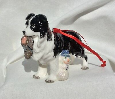Porcelain  Christmas ornament - Border collie