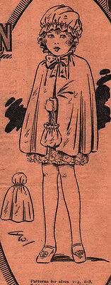 1920 LADY'S COMPANION Magazine with Tissue Pattern - GIRL'S CLOAK & HOOD
