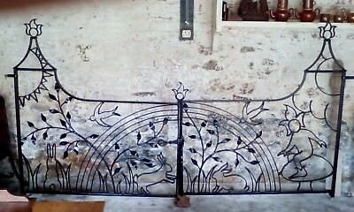 antique wrought iron gates 8ft+ wide