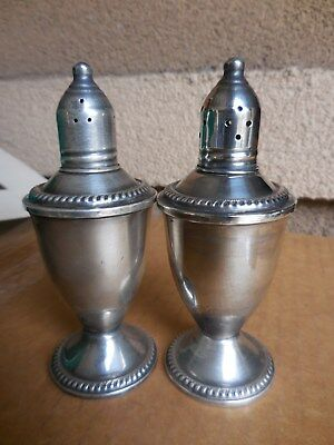 "Pair Duchin Creation Weighted Sterling Silver 4.75 "" Salt Pepper Shakers"