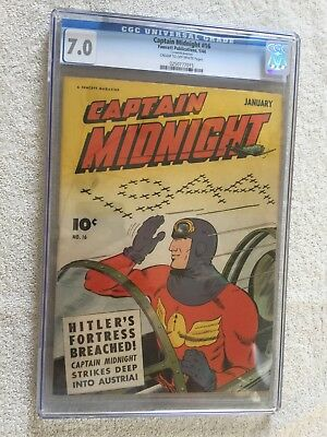 Captain Midnight #16 CGC 7.0 Fawcett Jan 1944 & FREE full color photocopy