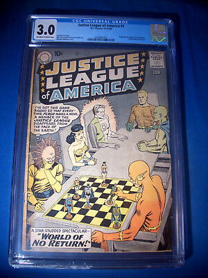 1960 * JUSTICE LEAGUE of AMERICA #1 * DC Comics * CGC 3.0 GD/VG Rare WHITE Pages