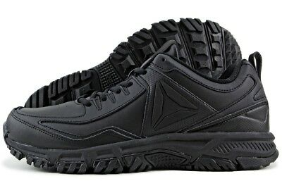 Men Reebok Ridgerider Leather Trail Shoes CN0954 Black Black 100% Original New