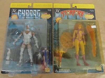lot of 2 dc direct new teen titans starfire & cyborg brand new