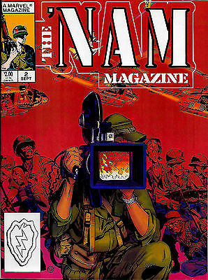 THE 'NAM MAGAZINE #2 (Sept 1988, Marvel) 52 B&W pages