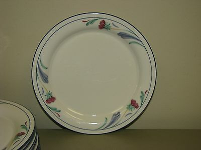 2 Lenox Chinastone Poppies on Blue Dinner Plates