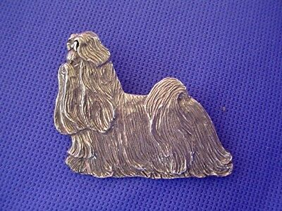 Shih tzu Pin TROTTING Pewter Dog Jewelry Pewter by Cindy A. Conter  44A
