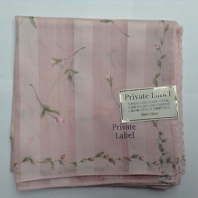 "NWT PRIVATE LABEL ""Floral"" Cotton Handkerchief"