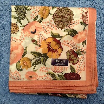 NWT LIBERTY Floral Cotton Scarf/Handkerchief
