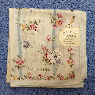 NWT LAURA ASHLEY Floral Silk/ Cotton Mix Handkerchief