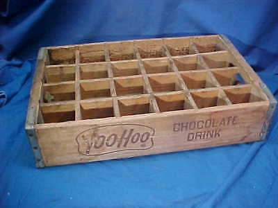 1950s YOO HOO CHOCOLATE Drink WOOD Advertising DELIVERY BOX