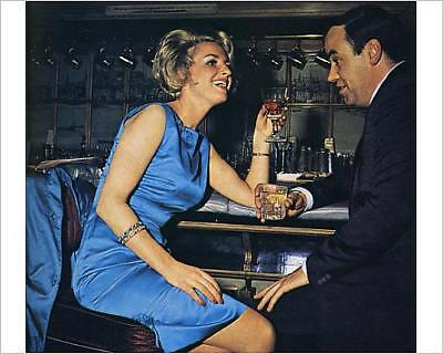 """10""""x8"""" (25x20cm) Print of Escort sharing a drink with a client"""