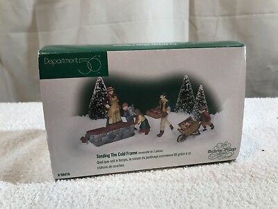Dept 56 Dickens Village Bachman's Tending the Cold Frame