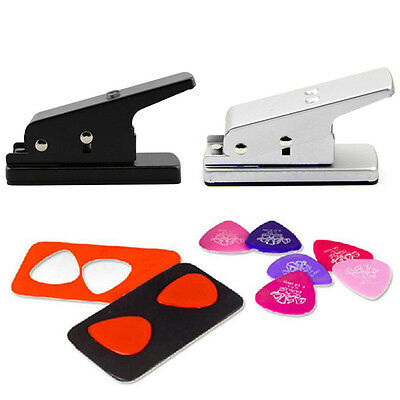 1PC DIY Hole Punch Make Guitar Pick Maker Pick Plastic Card Cutter Tool EH