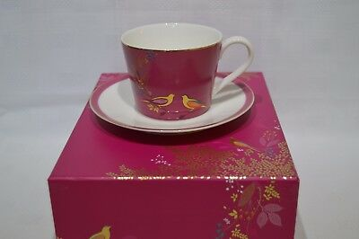 Portmeirion Sara Miller Chelsea Collection Tea Cup & Saucer - Pink - In Gift Box