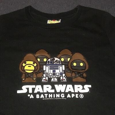 fae6c7a1 PRE-OWNED BAPE A Bathing Ape Blue Star Wars T Shirt XS LADIES ITEM ...