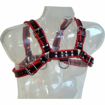 Fantasia Erotica Leather Body Chain Harness Iii Black / Red | Sexy San Valetin