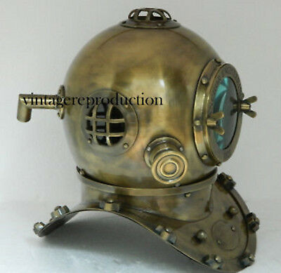 Copper Antique Nautical Scuba Diving Divers Helmet USA Navy Mark V Marine Decor