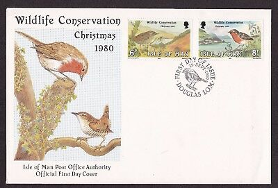 First Day Cover  Isle of Man 1980 Wildlife