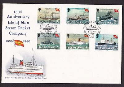 First Day Cover  Isle of Man 1980 Steam Packet Company