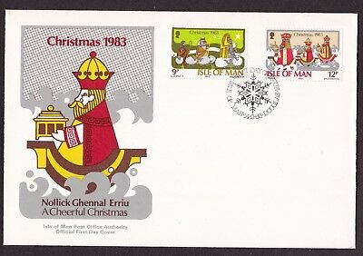 First Day Cover  Isle of Man 1983  Christmas