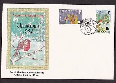 First Day Cover  Isle of Man. 1982 Christmas ..